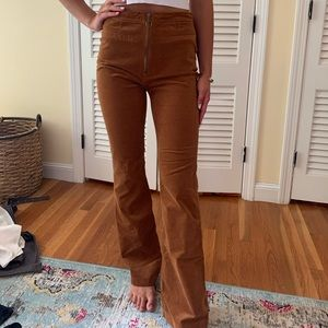 High rise corduroy pants!